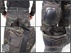 Hommes Militaire Armée pour airsoft/paintball war-game Tir tactique G2Gen2EDR Combat uniforme pour homme & Combinaison de protection avec Coudières & Genouillères Multicam Noir