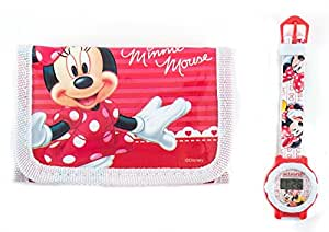 Minnie Mouse Children's Watch Wallet Set For Kids