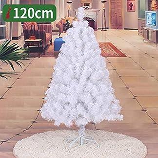 WZR Blanco Árbol De Navidad Artificial Tinsel, 120cm Artificial Árbol De Navidad Fácil De Ensamblar con Sólido Soporte En Metal Interior Exterior