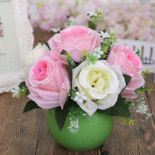 Eine moderne, minimalistische Möbel orb Vasen Schreibtisch eine kleine frische Blumen Emulation Suite Wohnzimmer setup für, DF Blumen verbringen.