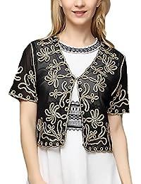 Adelina Bolero Donna Elegante Da Cerimonia Partito Cardigan Manica Ragazza  Abbigliamento Fashionable Corta Slim Vintage Trasparente 368f260757a2