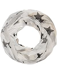 Kandharis Loopschal Sommerschal für Damen mit Sternen-Print Sterne Viskose Baumwolle LSF16S1