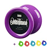 MAGICYOYO D2 ONE THIRD YOYO - Responsive Yoyo Professional Yoyo Plastic Yoyo for Beginner, Purple Yoyo Ball for Kids and Adult Easy to Perform Amazing Tricks Durable with 5 Strings (Elegant Purple)
