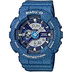 Casio Women's Baby-G BA110DC-2A2 Blue Plastic Quartz Sport Watch