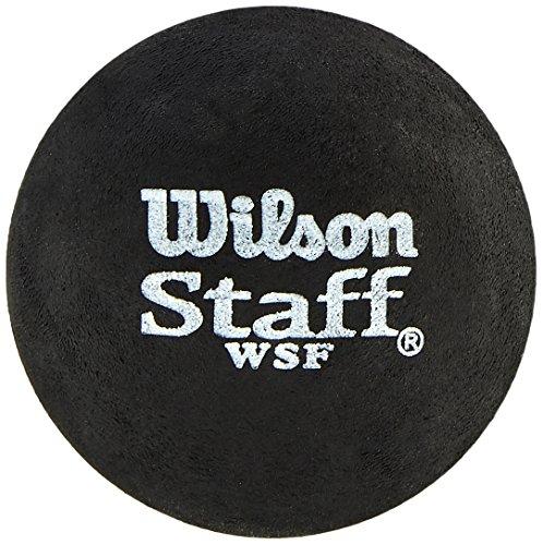 Wilson Squash-Ball, 2 Stück,2er Pack, Langsam, Anfänger, Gelber Punkt, Staff Premium Single Yellow Dot, WRT617800, Schwarz(gelber Punkt) - Single Yellow Dot