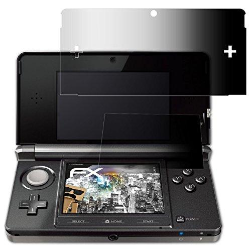atFoliX Blickschutzfilter für Nintendo 3DS (2011) Blickschutzfolie - 1er Set FX-Undercover 4-Wege Sichtschutz Displayschutzfolie