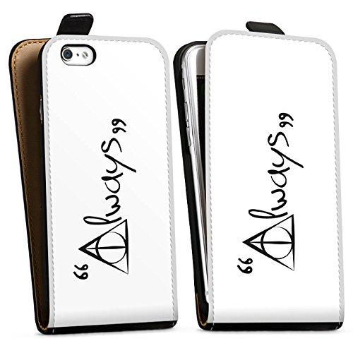 Apple iPhone 8 Hülle Case Handyhülle Always Harry Potter Statement Downflip Tasche schwarz