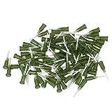 WEONE Olivgrün 1/2 Zoll 14Ga Kunststoff-Spirale Stecker Dosiernadeln Mit PP stumpfe Spitze Nadel (100 Stück)