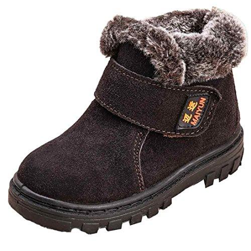 FEITONG Winter Baby Kind Art und Weise Art Baumwollschuh warme Schnee Aufladungen (27, Grau) Kaffee