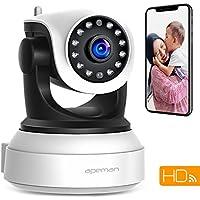 APEMAN 720P Cámara IP WiFi, Cámara de Vigilancia con Visión Nocturna, Audio de 2 Vías, Detector de Movimiento Pan/Tilt, Grabador de Vídeo y Audio, P2P/Onvif/2.4GHz, Compatible con iOS/Android