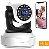 APEMAN WiFi Camera Home Security Surveillance Indoor Camera 720P CCTV Wireless IP Camera with Night Vision Baby Pet Remote Monitor Motion Detection Two Way Audio Pan/Tilt/Zoom