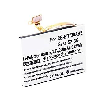 AccuCell Neu Akku für Samsung Galaxy Gear S2 3G, Gear S2 3G, SM-R730, SM-R730A, SM-R730S, SM-R730T, SM-R730V, SM-R735, EB-BR730ABE, GH43-04538B 3,7 Volt 220mAh