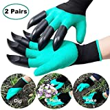 Gardening Gloves with Claws - For Men and Women | Puncture Resistant, Waterproof Safe Garden Gloves for Digging, Pruning & Planting | The Perfect Gift for Gardeners (Homeme - 2 Pairs)
