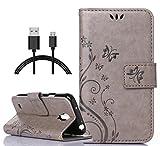 Folio PU Leder Wallet Case Schutzhülle für Samsung Galaxy S4 Hülle Handytasche Skin Schale Soft Backcover Handy Tasche F