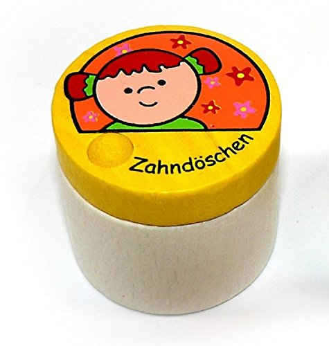 DoseMilchz/ähne 40 x 40 x 60 NEU Milchzahndose Kinderzahndose Holz