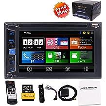 Eincar 15,7cm 5punti capacitivo multimediale touch screen doppio DIN auto stereo con GPS integrato, Bluetooth DVD/CD 1080p video playing porte USB/SD FM/AM/RDS radio Swc subwoofer