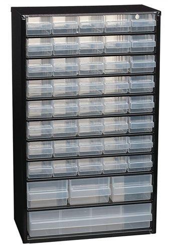 Kleinteilemagazin mit 44 Schubladen