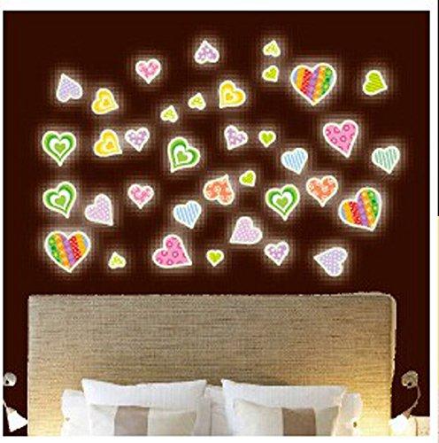 Süße Fluoreszierende Paste Mond Stern A4 Papier Größe Nachtlicht Paste Kinder Cartoon Raum Dekorative Wandpaste 21x29.7cm Y0020 Nachtlicht Aufkleber