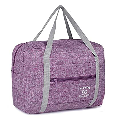 WANDF-Foldable-Travel-Duffel-Bag-Luggage-Sports-Gym-Water-Resistant-Nylon