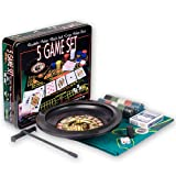 Five Game Casino Set - Roulette, Poker, Black Jack, Craps, Poker