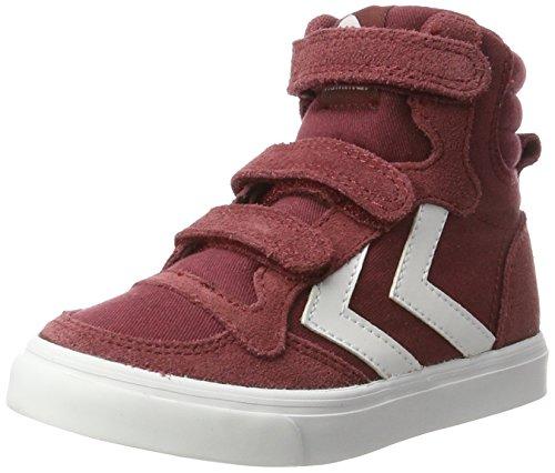hummel Unisex-Kinder Stadil Canvas Mono HIGH JR Hohe Sneaker Rot (Cabernet), 38 EU