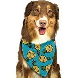 Sdltkhy Yellow Pineapples Pet Dog Bandanas Triangle Bib Scarf Accessories for Dogs, Cats, Pets Animals