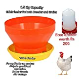 #6: 4.5 kg Turbo Feeder for Poultry Birds for Advantages of No Feed Wastage Good Growth and Good Feed Conversion