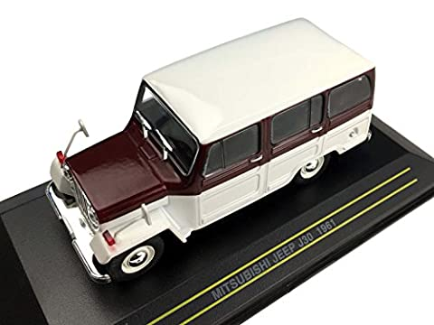 First43 / Fast 43 Mitsubishi Jeep 1961 White & Red Wine 1/43 scale F43-014