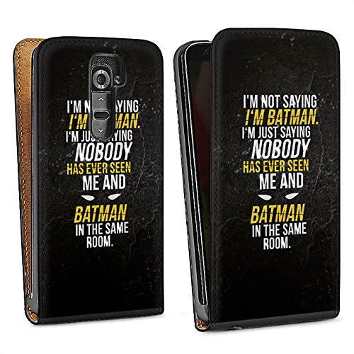 LG G2 Coque de protection Case Cover Proverbes Batman Statement Lite