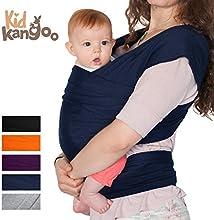 Fular portabebés elástico para transportar a tú bebé - Pañuelo portabebé de algodón y lycra - Porta bebé para hombre y mujer en cinco colores