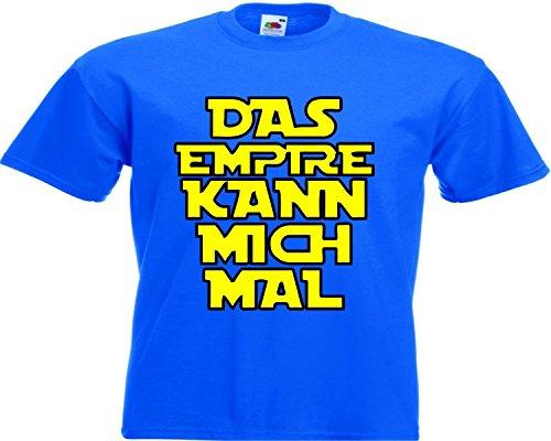 Motiv Fun T-Shirt Das Empire Kann Mich Mal Star Wars Gam Motiv Nr. 2843 Blau