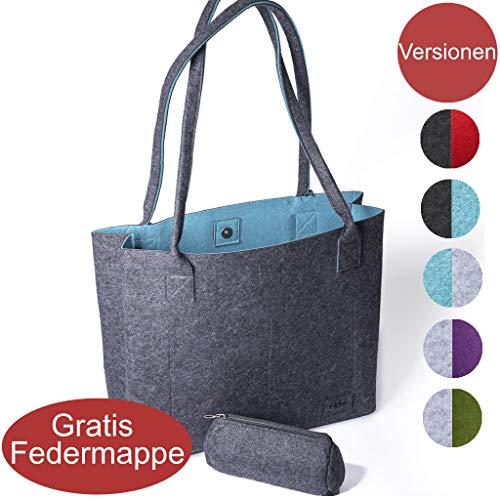 Filztasche Henkeltasche Shopper Damen große Handtasche Einkaufstasche Tragetasche Schultertasche in mehreren Farben