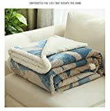 Blanket Plush Nap Lazy blanket Flannel printing Double layer Bed Couch-A 100x120cm(39x47inch)