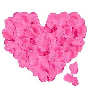 ASANMU 3000 Stück Rosenblätter, Rosenblüten Rosenblätter Rosen Blätter Blüten Kunstblumen Seidenblumen für Hochzeit Deko…
