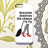 Olive & Maybelle Everyone deserves chance FLY wicked musical defying gravity lyrics stockings quote Phone Case Cover For iPhone 5 5S & SE - in WHITE