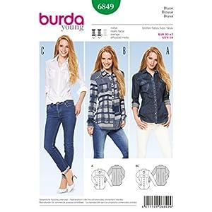 Burda Schnittmuster Bluse 6849