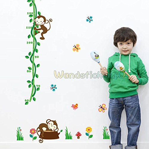 wandsticker4u-vinilos-decorativos-pruebas-de-altura-mono-70-x-190-cm-tatuajes-de-pared-mariposas-paj