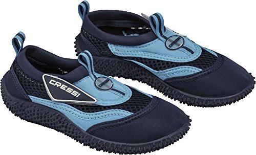 Cressi Coral Jr - Kinder Badeschuhe für Pool und Strand, Mehrfarbig (Blau/Hellblau), 34 EU