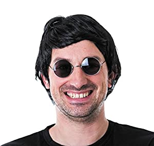 Party Pro-perruque, unisex adulto, 86210, Negro, talla única