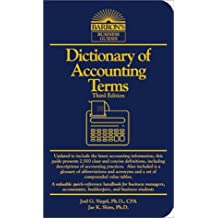 Dictionary of Accounting Terms (Barron's Business Guides) by Joel G. Siegel (2000-10-30)