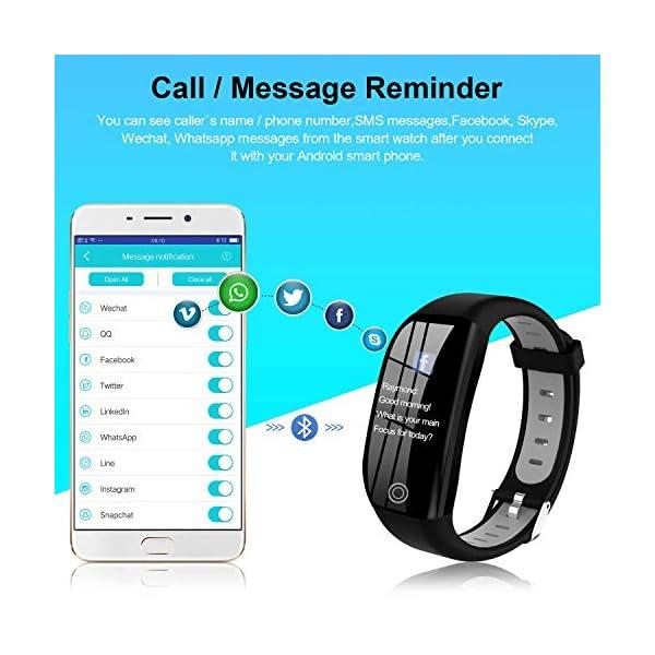Tipmant Smartwatch, Relojes Inteligentes Mujer Hombre Niños Impermeable IP68 Pulsera Actividad Inteligente con… 4