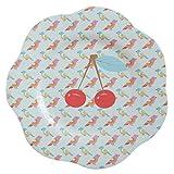Overbeck and Friends - Piatto in melamina con ciliegie colorate, 22 cm, idea regalo per San...