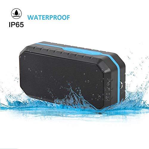 ZGYQGOO Bluetooth-Lautsprecher Saugnapf, wasserdichte kabellose Lautsprecher mit HD-Stereo-Sound, IP65 wasserdicht, eingebautes Mikrofon fuumlr den Innen- und Auszligenbereich - Zyklus-sound-lautsprecher