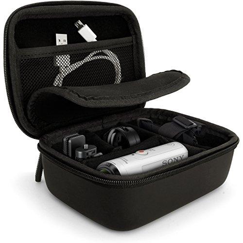 igadgitz Schwarz EVA Tragetasche Hartschale mit Tragegriff für Sony Action Kameras