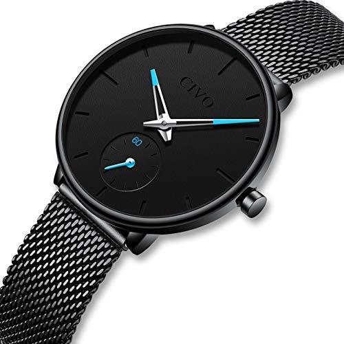 dfa4420c4558 CIVO Relojes para Mujer Reloj Damas de Malla Impermeable Minimalista  Elegante Banda de Acero Inoxidable Lujo