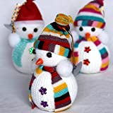 FunRobbers Christmas Decoration Hanging Snow Man – Multi Colour (Pack of 1)