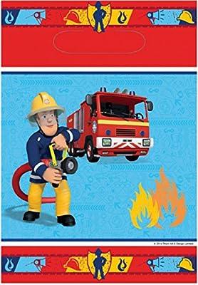 8 Partytüten * FEUERWEHRMANN SAM * für Party und Geburtstag // Feuerwehr Fire Fighter Fireman Mitgebsel Geschenktüten Tüten