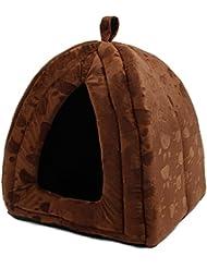 LEI ZE JUN UK- L'animal familier de tente d'animal familier de lit de luxe d'animal familier avec de belles copies de patte utilise le lit pliable pour cinq couleurs Maison pour animaux de compagnie