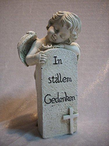 Grabengel 16 cm Gedenkstein in stillem Gedenken Engel Figur Deko GSL 60423