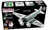 Tronico de Construction–Avion, Junkers Ju 52, 908Pièces en métal, 1: 50, piles, hélice tournent, assemblage, avec outils, série professionnelle, à partir de 12ans, 4couleurs rcee